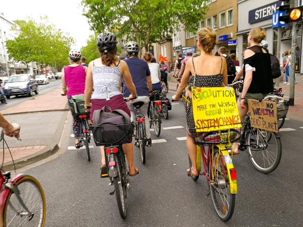 fridays for future Fahrraddemo